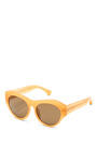 For Dries Van Noten D Frame Acetate Sunglasses by LINDA FARROW Now Available on Moda Operandi