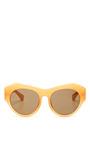 For Dries Van Noten D Frame Acetate Sunglasses by LINDA FARROW Now Available on Moda Operandi