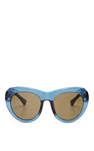 Medium linda farrow blue dries van noten saphire sunglasses with brown lens