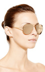 Metal Frame Aviator Sunglasses by LINDA FARROW Now Available on Moda Operandi