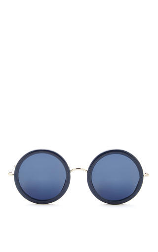 Medium linda farrow blue the row dark navy sunglasses with blue lens