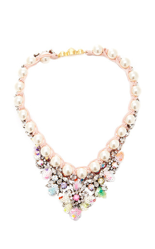 Medium shourouk pink theresa sequins pastel necklace