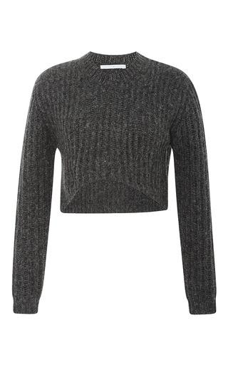 Medium thakoon addition dark grey crop pullover