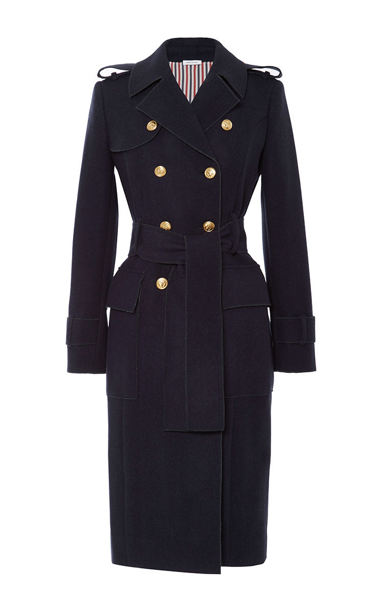 Melton Wool Trench Coat By Thom Browne Moda Operandi