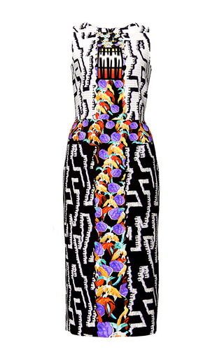 Medium peter pilotto black kia sleeveless viscose stretch dress