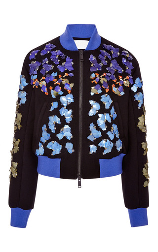 Medium peter pilotto black embroidered lex jacket