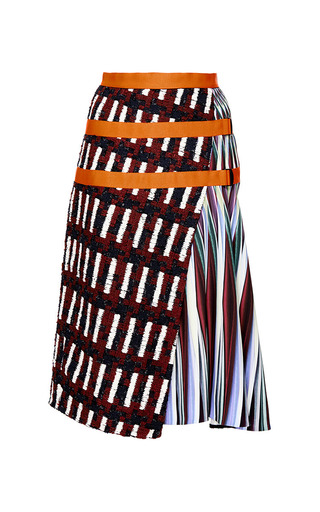 Medium peter pilotto burgundy long ltn skirt 2