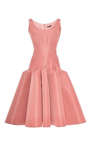 Medium zac posen pink silk faille cocktail dress