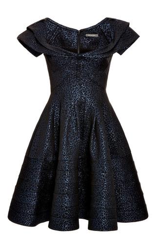 Medium zac posen blue party jacquard cocktail dress