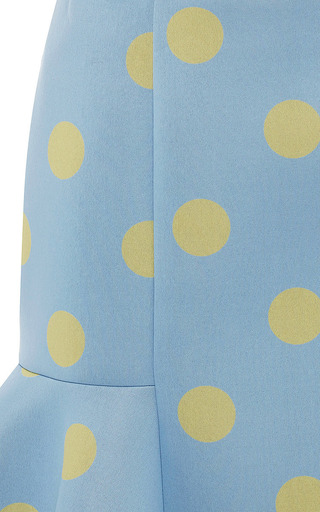 Eva Neoprene Mini Skirt In Blue/Yellow by VIVETTA Now Available on Moda Operandi