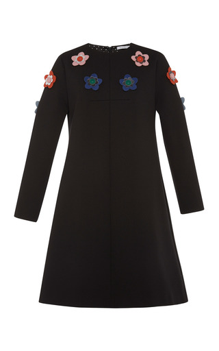 Medium vivetta black giorgio embellished jersey dress 2
