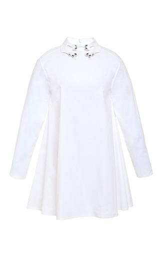 Medium vivetta white rose long sleeve dress