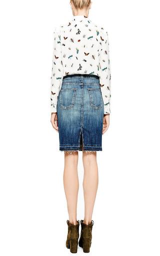Jodie Distressed Denim Skirt by CURRENT/ELLIOTT Now Available on Moda Operandi