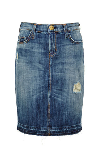 Medium current elliott blue jodie destroy with released hem