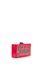 M'o Exclusive: Jean 'taken' Acrylic Clutch by EDIE PARKER Now Available on Moda Operandi