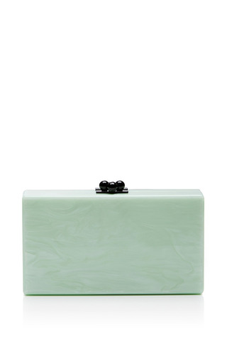 Jean Chevron Glittered Acrylic Clutch by EDIE PARKER Now Available on Moda Operandi