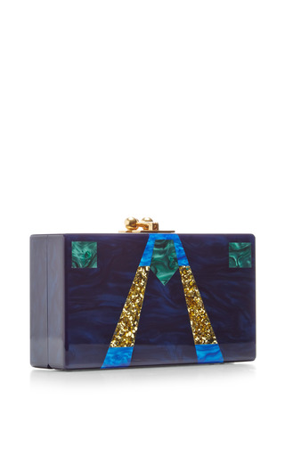 Jean Glitter Acryllic Clutch by EDIE PARKER Now Available on Moda Operandi