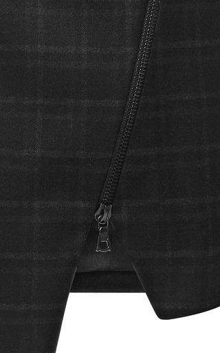 Asymmetric Plaid Zip Skirt by JONATHAN SIMKHAI for Preorder on Moda Operandi