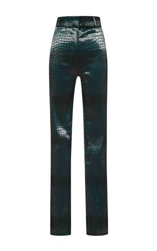 Medium jonathan simkhai green stretch croc trouser