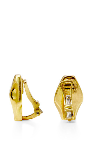 18 K Yellow Gold Snake Clip On Earrings by MARC ALARY for Preorder on Moda Operandi
