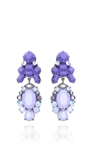 Medium ek thongprasert purple attitude earrings