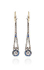Vintage Diamond And Sapphire Earrings by DOYLE & DOYLE for Preorder on Moda Operandi