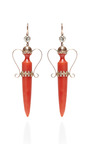 Victorian Coral And Diamond Amphora Earrings by DOYLE & DOYLE for Preorder on Moda Operandi