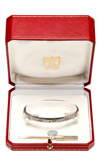 "Cartier 18 K White Gold ""Love"" Bracelet.  Signed 20 Cartier (C) Cartier 1993 From Camilla Dietz Bergeron by CAMILLA DIETZ BERGERON, LTD. for Preorder on Moda Operandi"