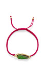 One Of A Kind Uvaronite Garnet And Diamond Dark Neon Pink Macrame Bracelet by KIMBERLY MCDONALD for Preorder on Moda Operandi