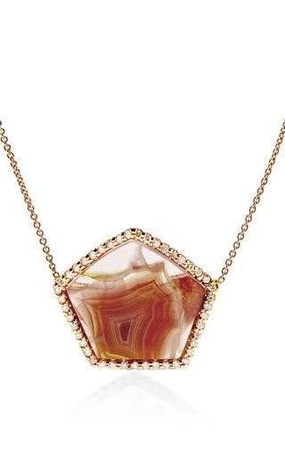 Laguna Agate And Diamond Pendant Necklace by KIMBERLY MCDONALD for Preorder on Moda Operandi