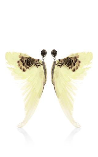 Medium daniela villegas yellow wing earrings