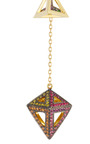 Octahedron Dress Earrings 18 K And Multi Stones by NOOR FARES for Preorder on Moda Operandi