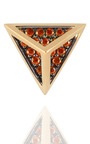 Tetrahedron Studs Earrings In 18 K Gold And Orange Sapphires by NOOR FARES for Preorder on Moda Operandi