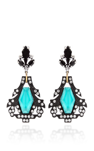 Medium lulu frost blue lucid drop earring