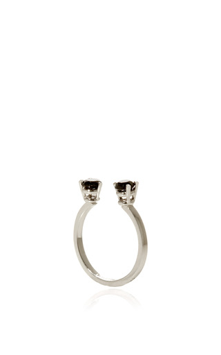 Grey Dots Ring by DELFINA DELETTREZ for Preorder on Moda Operandi