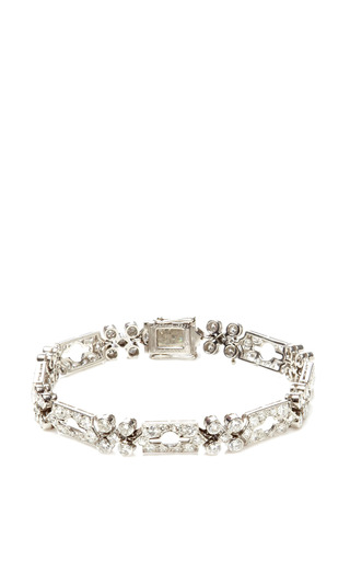 Medium fd gallery white vintage art deco diamond bracelet by lacloche