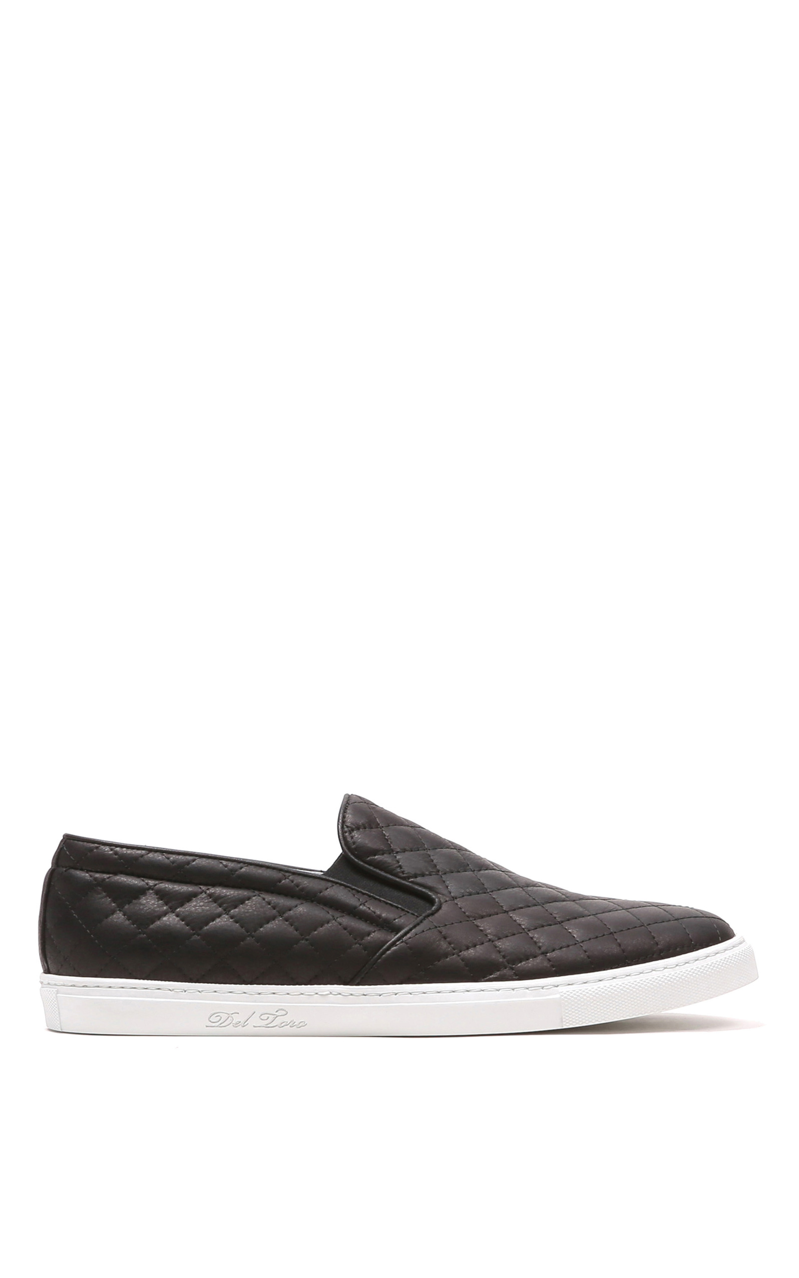 Quilted slip-on sneaker featuring piped topline and elastic goring at each side. W Collection Slip on Fashion Sneakers White Sole Shoes Closed Toe. by W Collection. the perfect slip on sneaker with a quilted leather upper with Soho Shoes Women's Casual Lace up High Top Quilted Fashion Sneaker. by Soho Shoes. $