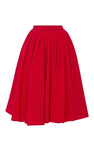 Medium natasha zinko red midi pleated skirt 2