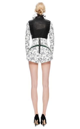 Floral Leather Bodice Shirt by NATASHA ZINKO for Preorder on Moda Operandi