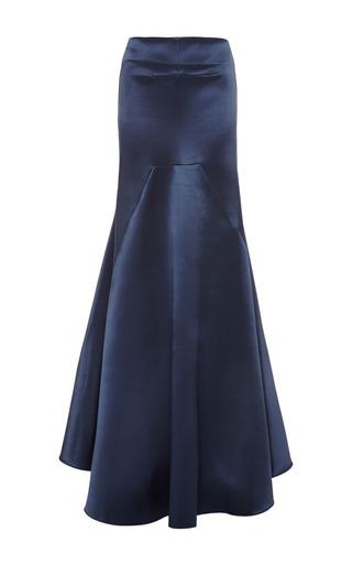 Medium ellery blue mo exclusive nomadic floor length skirt in navy satin