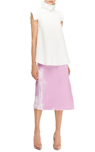 Aperture Velvet Midi Skirt by ELLERY Now Available on Moda Operandi