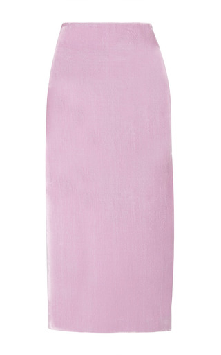 Medium ellery pink aperture mid length pencil skirt with side split 2