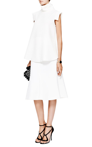 Chrome Textured Georgette And Crepe Top by ELLERY Now Available on Moda Operandi