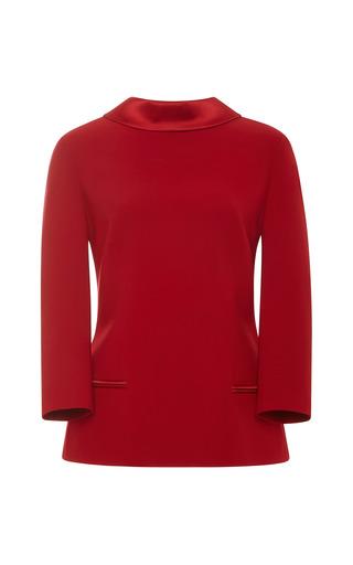 Medium a la russe red reverse tuxedo jacket