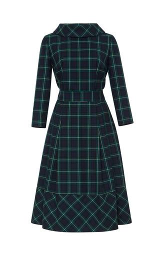 Medium a la russe plaid checkered dress