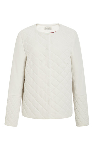 Medium a la russe white quilted jacket