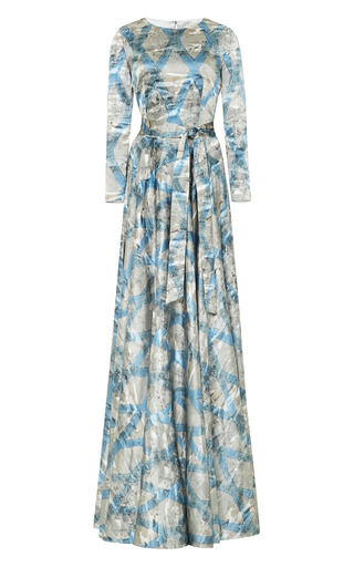 Medium a la russe blue andrews flag gown