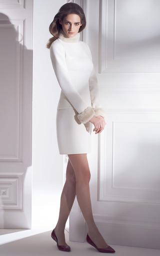 Pearl Mink Fur Cuffs by ESME VIE for Preorder on Moda Operandi
