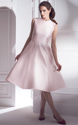 Peony Satin Full Skirt Midi Dress by Esme Vie | Moda Operandi