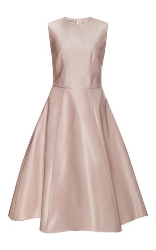 Medium esme vie pink peony satin full skirt midi dress